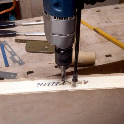 Drill several holes side by side by adjusting the depth of cut beforehand.
