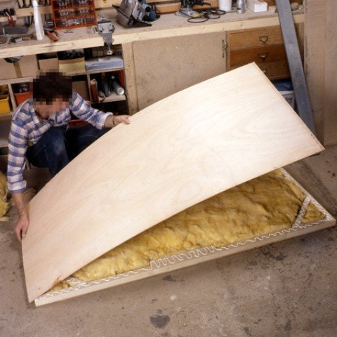 fill the void created by the frame with glass wool.